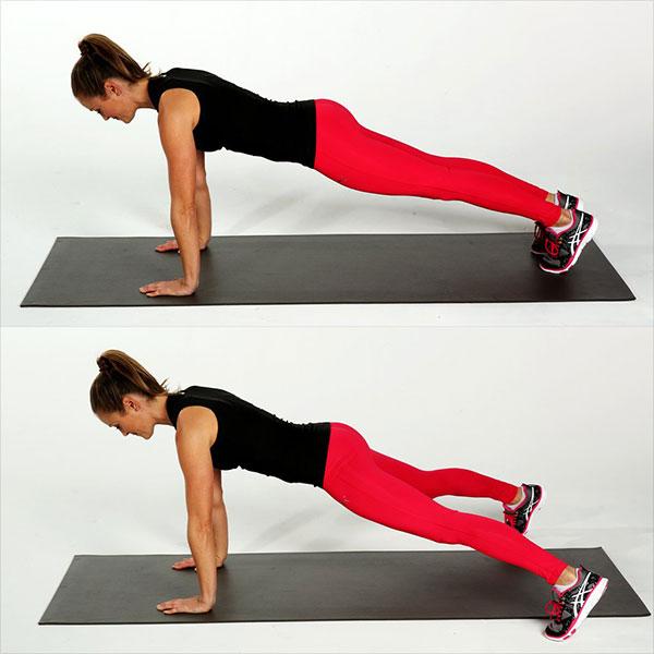 Bài tập Plank nhảy chân