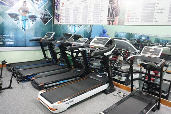 Phòng trưng bày máy chạy bộ tại Thiên Trường