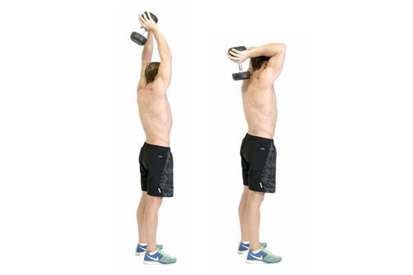 Standing Dumbbell Tricep