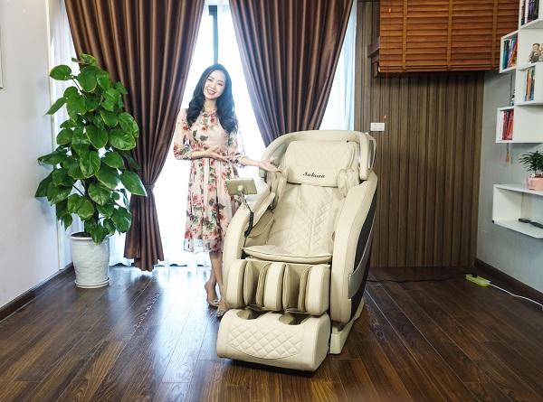 Ghế massage là thiết bị chăm sóc sức khỏe hữu ích